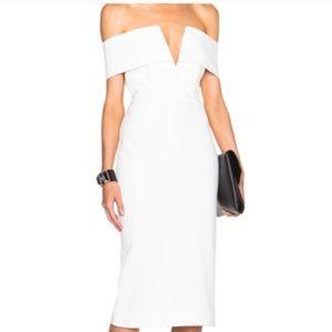 [ Nicholas ]  pointe strapless structured dress