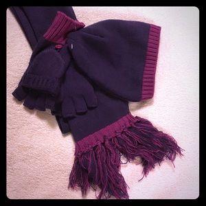 Other - NWT Purple Pink Hat Scarf Glove Set