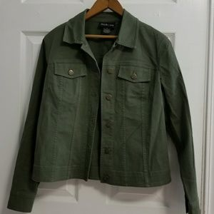 Dark Green  Light Basic Jacket