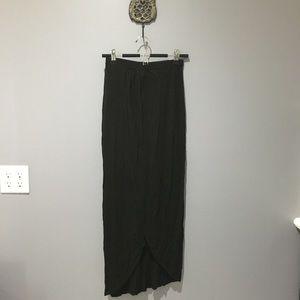 Asos Black Maxi Skirt