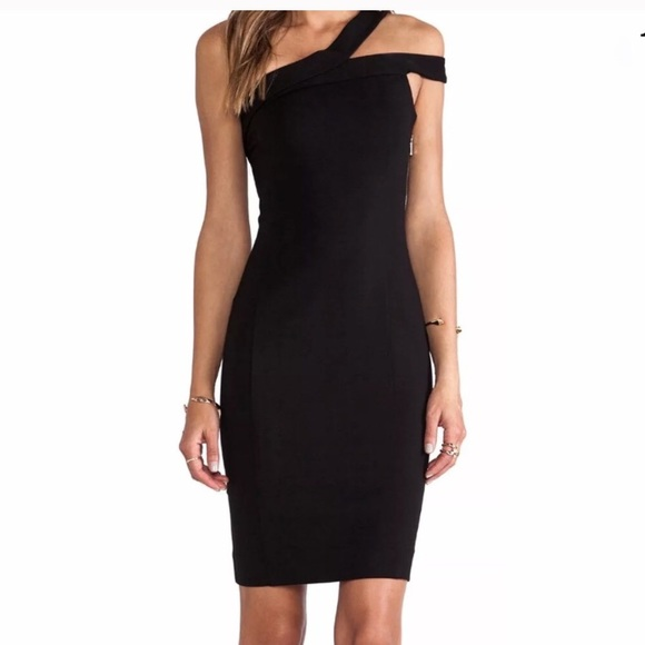 Nicholas Dresses Black One Shoulder Sheath Dress Poshmark