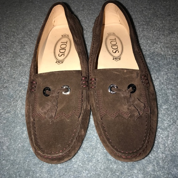 Gommino Suede Backless Loafers - WhiteTod's 173OuCh