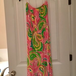 Lilly Pulitzer All Nighter Strapless Maxi Sz Sm