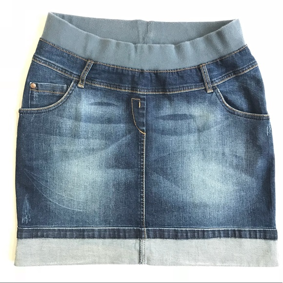 5ce08ba520583 Skirts | Maternity Pregnancy Cute Comfy Jean Denim Skirt | Poshmark