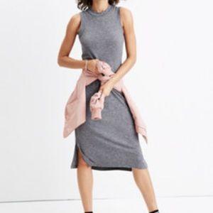Madewell Sleeveless Tee Dress X-SMALL grey