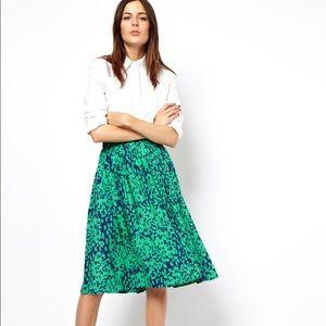 ASOS Print Midi Skirt