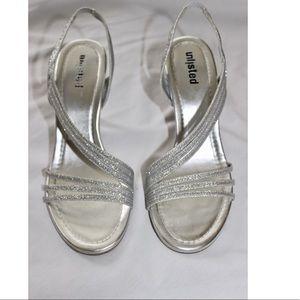 🆕 Silver Glitter Open-Toe High Heels