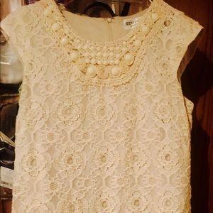 Studio 1 Embellished Cream Dress