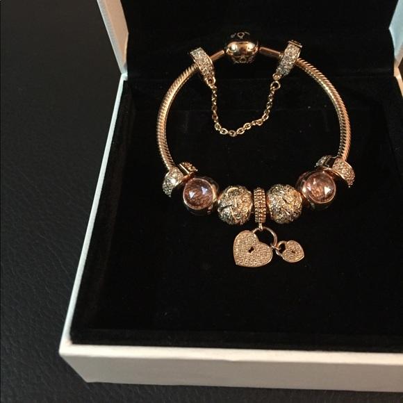 de9b1282e Pandora Jewelry | Full Rose Gold Bracelet | Poshmark