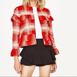 Zara jacket with frilled