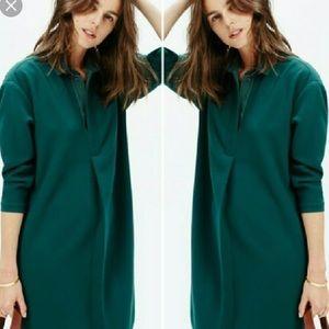 Madewell Emerald Green Shift Dress