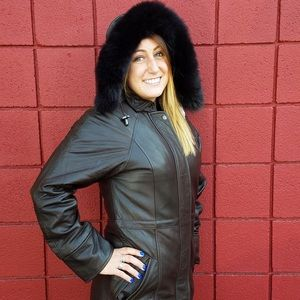988aa54b5 Knolels & Carter Lamb Leather Real Fox Fur Lining NWT