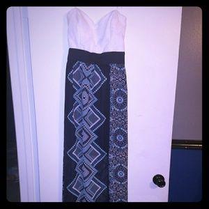 Beautiful strapless open back maxi dress
