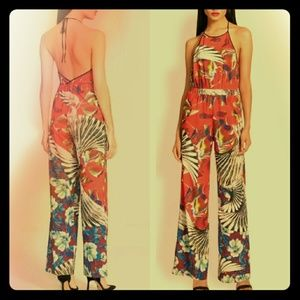 Clover Canyon Floral Wallpaper Jumpsuit
