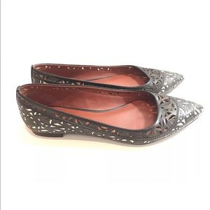 Aerin flats size 6 pointed toe leather shoes