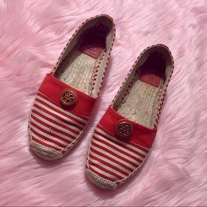 Tory Burch Beacher Striped Espadrille Sandals