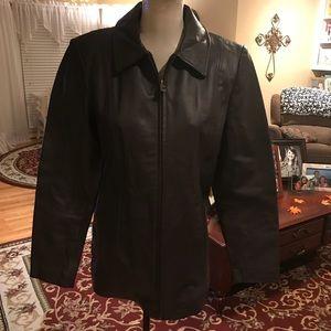Kim Rogers dark brown 💯 leather jacket