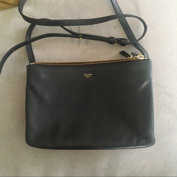 945677010 Celine Bags | Trio Black Small Used | Poshmark