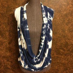 Tops - NWOT Cowl Neck Tie Dye Top