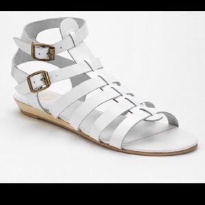 New Ecote  double buckle caged gladiator sandals