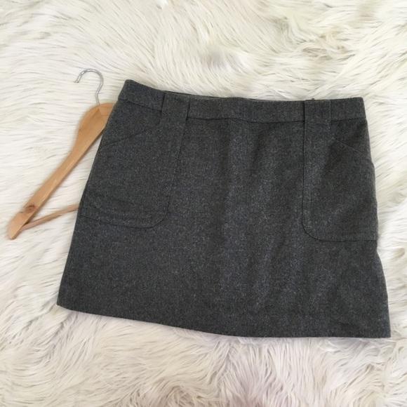 next check patch pocket mini skirt