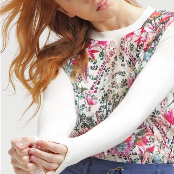 08cffa782f82b0 Ted Baker Layered Bouquet Rayshel Sweater Size 1. M 59e19e903c6f9f2b0900146f