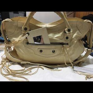 BALENCIAGA 2way Leather CITY bag ivory ish