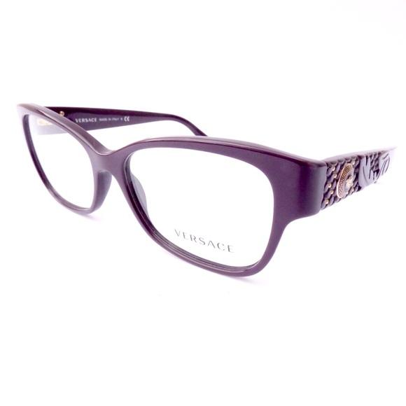 d5b870f79bdd 100% Authentic Versace Deep Purple Eyeglasses! M 59e1a00ff09282a0dd0014d7