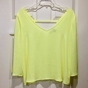 Valette bright yellow swing Blouse