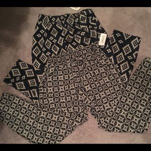 2 Pair Forever 21 Long Woven Cute pants!