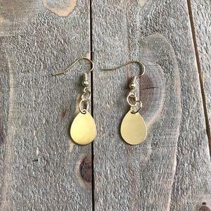 3 for $25 Handmade Gold Teardrop Earrings