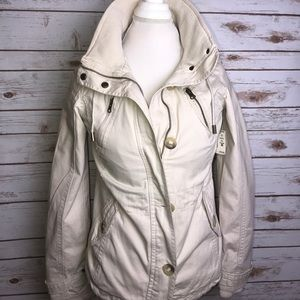 Aeropostale Cream Jacket button/zippers size small