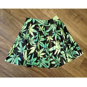 Dresses & Skirts - NWOT Cannabis/Weed/Marijuana/Pot leaf/420 SKIRT!