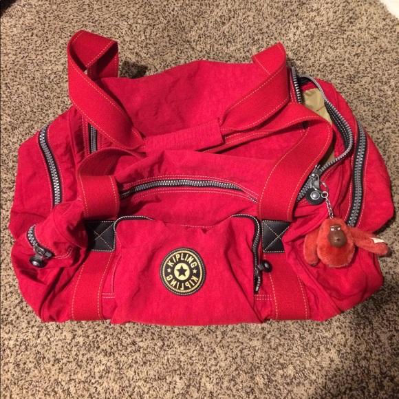 186ef2890 Kipling Handbags - Red Kipling Duffle Bag