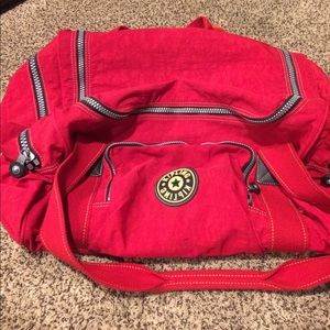 fabc00d90 Kipling Bags | Red Duffle Bag | Poshmark