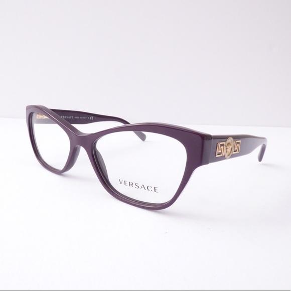 5c3449c84d67 100% Authentic Versace Cat Eye Purple Eyeglasses! M 59e1af9d2fd0b760f20032ed