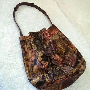 Vintage Snake Bucket Bag