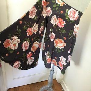 Asos one shoulder bell sleeve Floral Blouse
