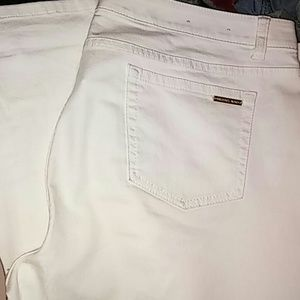 White MK jeans