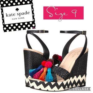 Kate Spade New York Delancey Wedge Sandals size 9
