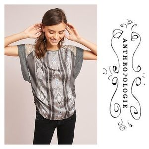New Anthropology Lucine Tee Gray Motif Size L, XL