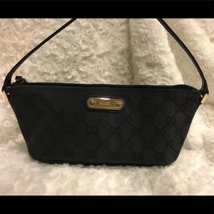 Authentic Gucci original monogram canvas pochette