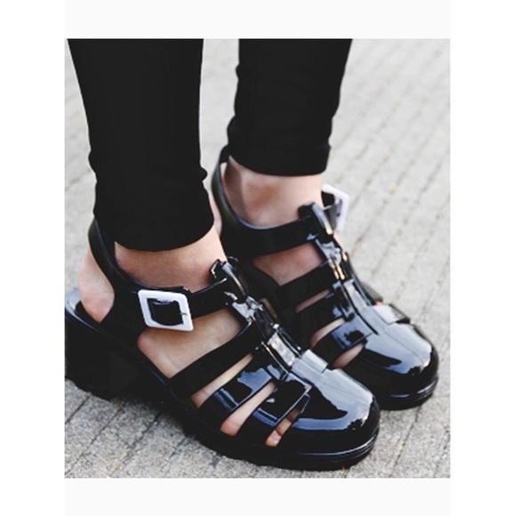 02045439e32 ASOS Shoes - Truffle Collection Black Jelly Platform Sandals