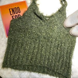 VINTAGE Green Chunky Sweater Tank Top
