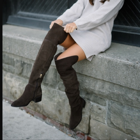new style replicas search for authentic NWOB Coach Suede Lucia Knee High Boots Size 7 NWT