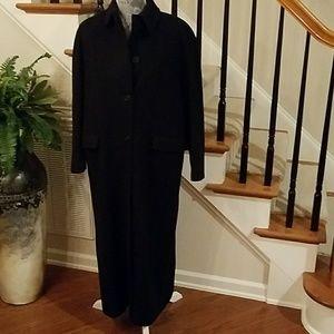 Calvin Klein 100% Merino Wool Full Length Coat