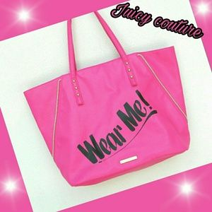 Gorgeous juicy couture hot pink Tote bag