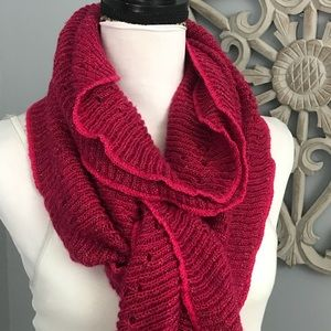 Charming Charlie | Pink Ruffle Scarf