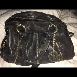 MK black satchel purse
