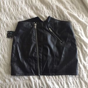 Faux leather mini skirt / NASTY GAL